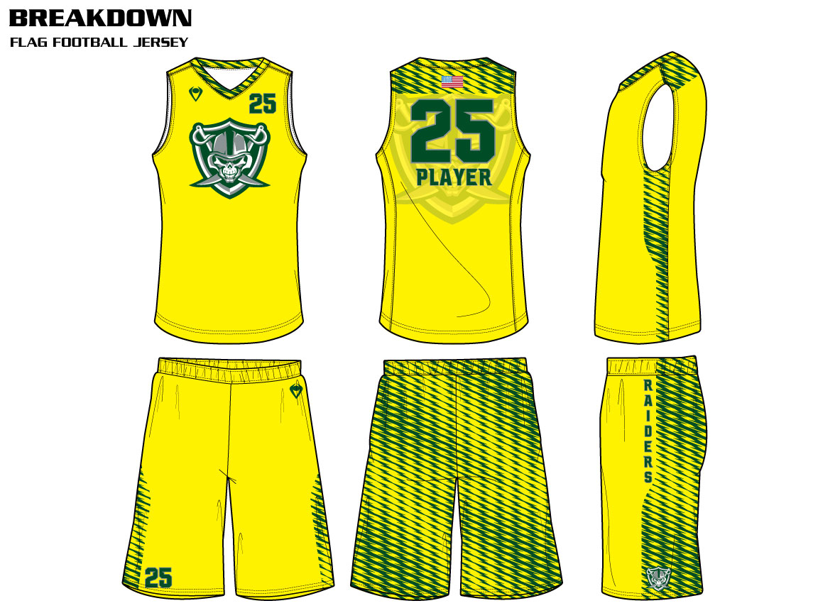 Breakdown Custom Sublimated Flag Football Uniform