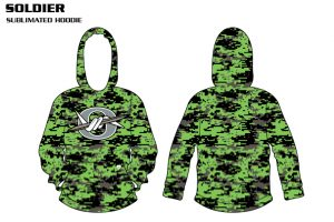 Soldier Sublimated Football Hoodie