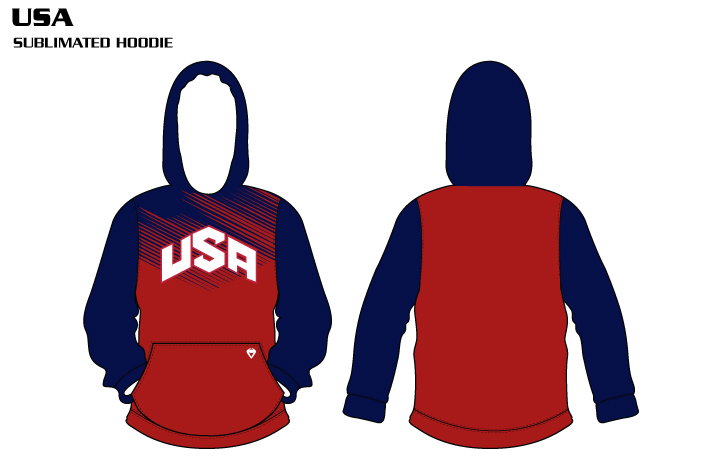 USA Sublimated Football Hoodie