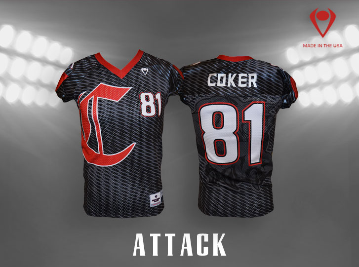 Attack Custom Sublimated Football Jersey