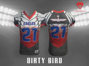 Dirty Bird Custom Sublimated Football Jersey