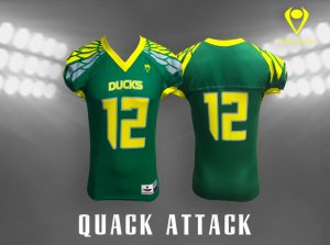 Quack Attack Custom Sublimated Football Jersey