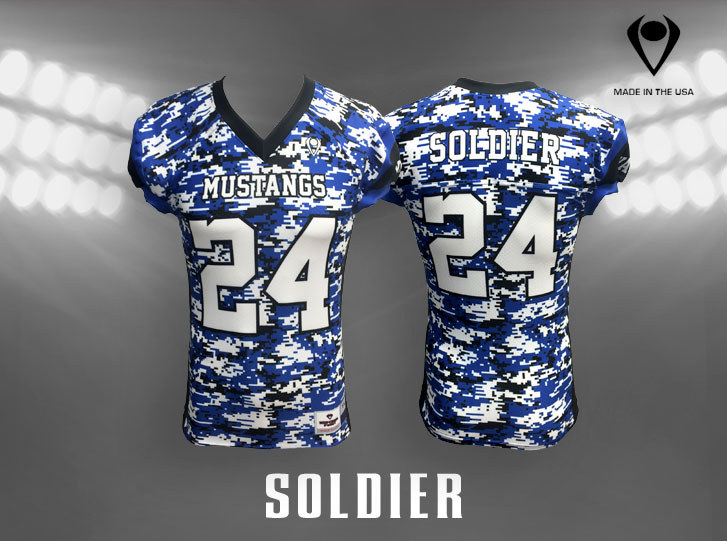 Soldier Custom Sublimated Football Jersey