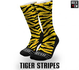 Sublimated Socks Tiger Stripes